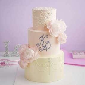 Свадебный торт с росписью