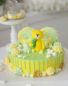 """Торт """"Желтый мишка"""""""
