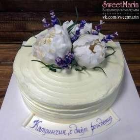 "Торт ""Белые цветы"""