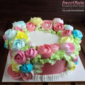 """Торт """"Разноцветный букет"""""""