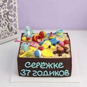 Торт в форме песочницы