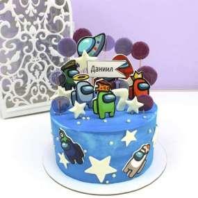 Торт голубой Амонг Ас