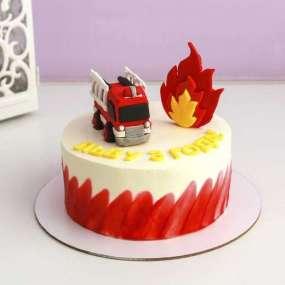 Торт с пожарной машиной