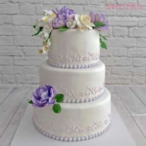 """Торт """"Свадебные цветы"""" №2"""
