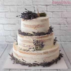 Торт Лавандовая свадьба