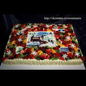 """Торт """"Новогодний фото-торт"""""""