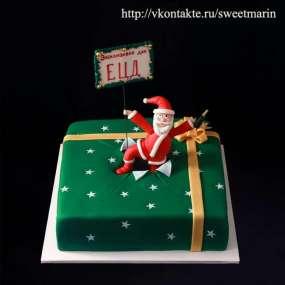 """Торт """"А вот и Дед Мороз"""""""