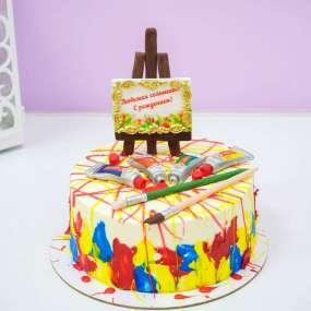 Торт для художественной школы