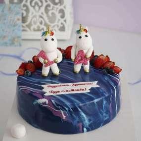 Торт с единорогом