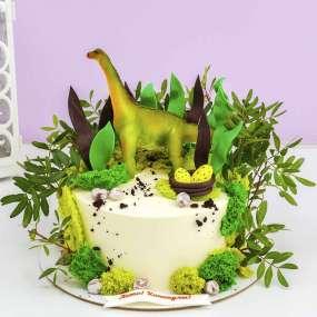 """Торт """"Динозавр и яйца"""" 1,5 кг"""
