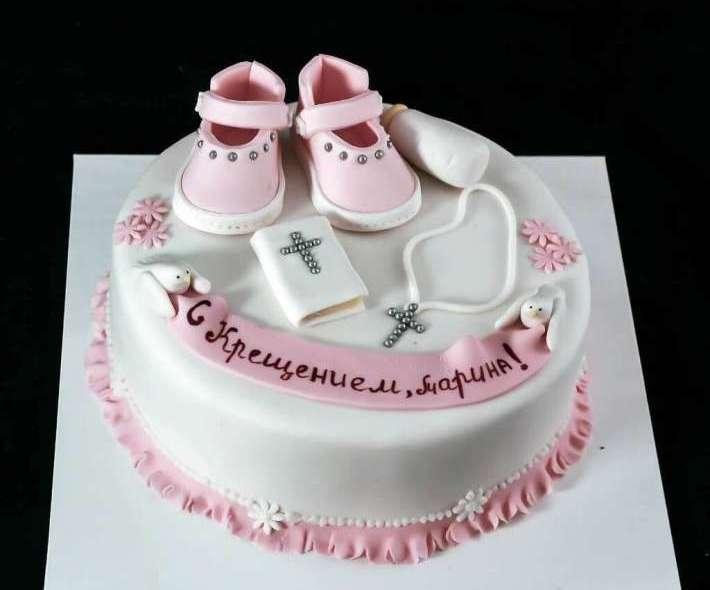 """Торт """"На крестины для девочки"""""""