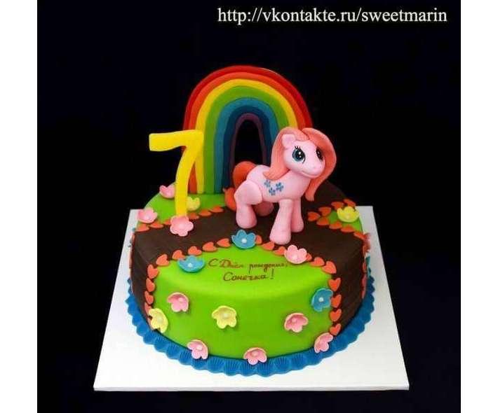 """Торт """"Мои маленькие пони"""""""