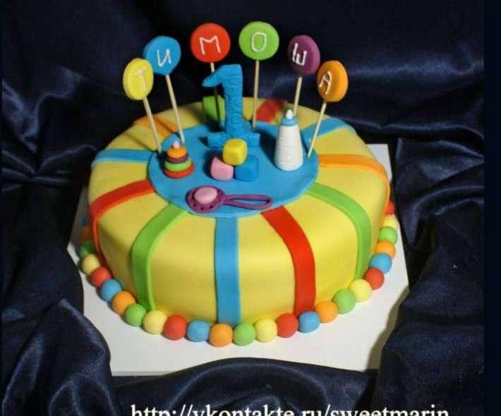 """Торт """"Яркий тортик для Тимоши"""""""
