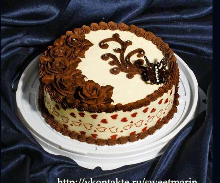 """Торт """"Шоколадные розы"""""""