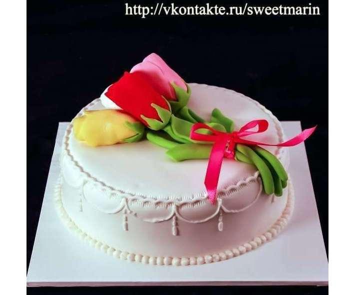"Торт ""Три тюльпана"""