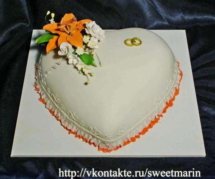 """Торт """"Оранжевое сердце"""""""