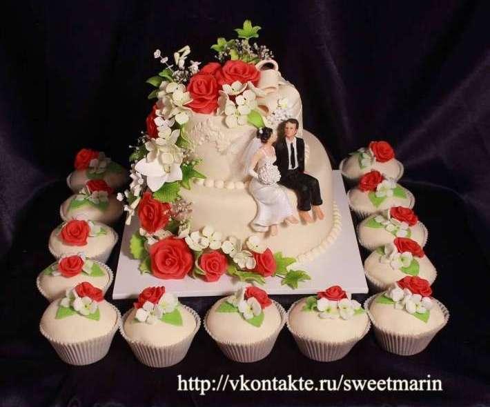 """Торт """"Розы и гортензия"""""""