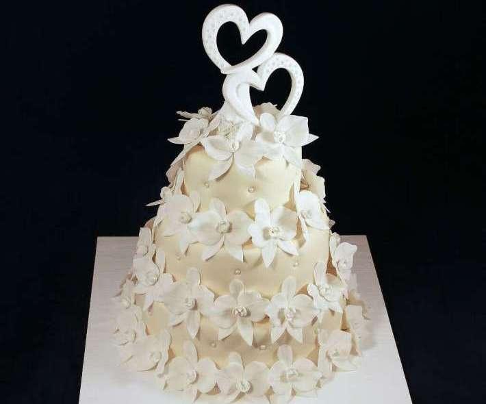 """Торт """"Два сердца навсегда"""""""