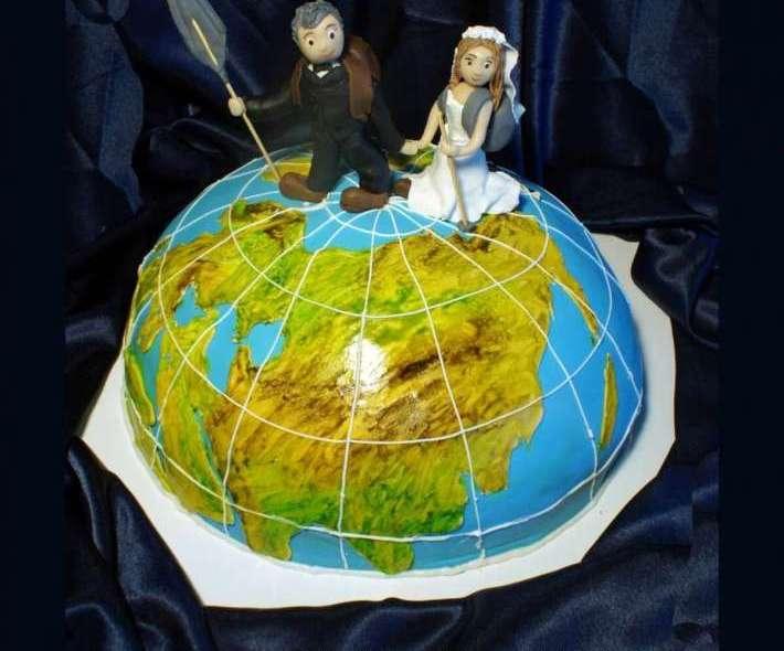 """Торт """"С любимым вокруг света"""""""