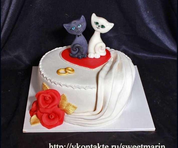 """Торт """"Влюбленные коты"""""""