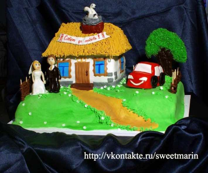"""Торт """"Украинская свадьба"""""""