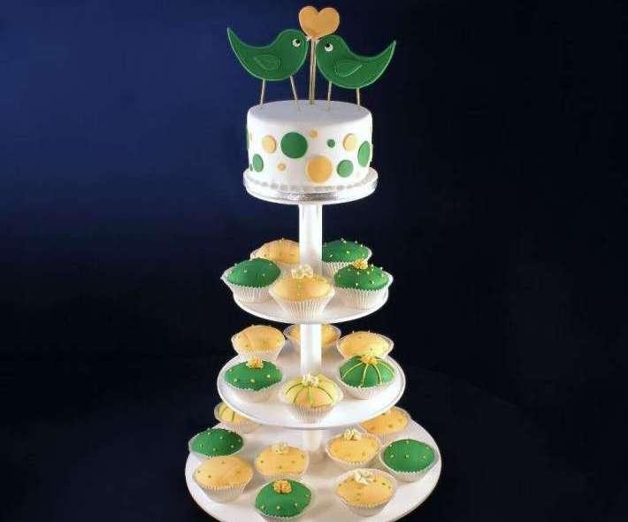 """Торт """"Зеленые птички"""""""
