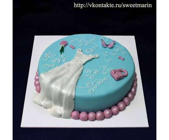 """Торт """"Свадебное платье"""""""