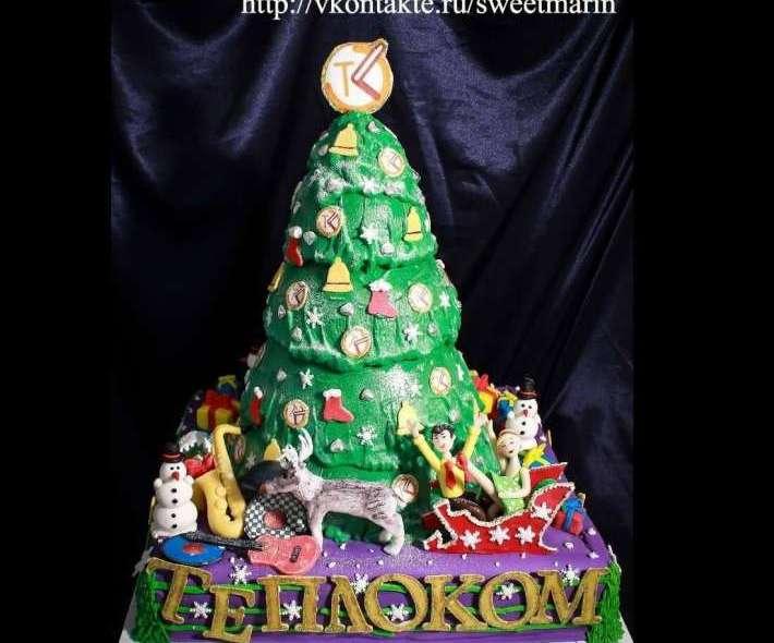 """Торт """"Новый год. Стиляги"""""""