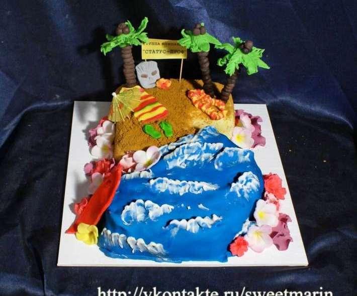 """Торт """"Вечеринка на пляже"""""""