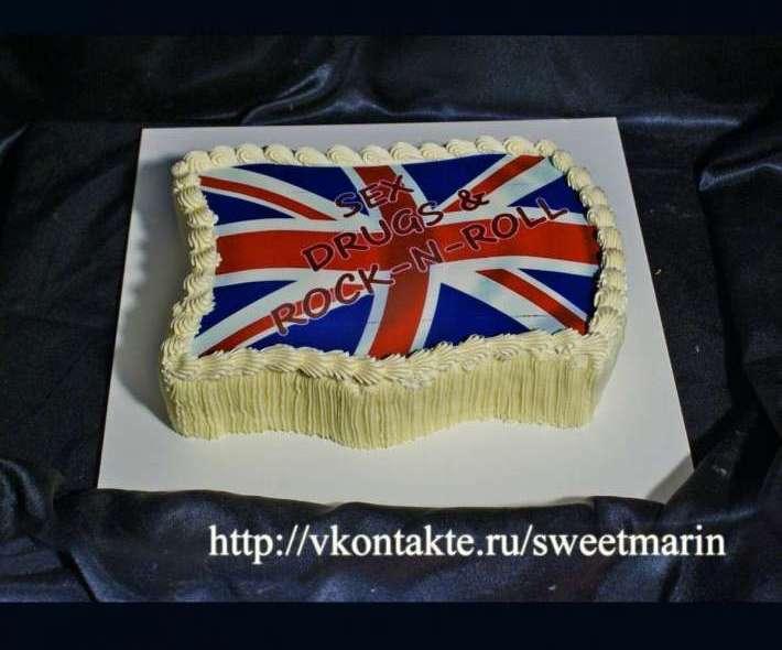"Торт ""Британский флаг"""