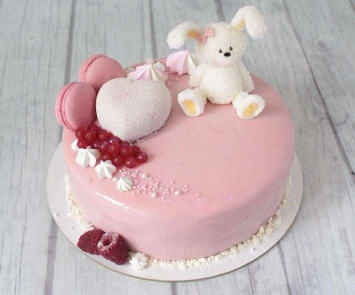 Торт для девочки с зайцем
